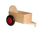 Afbeeldingen van Aanhanger voor rode kinder-loopfiets beukenhout Van Dijk Toys