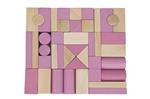 Afbeeldingen van Blokkenset roze-blank Van Dijk Toys