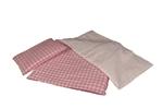 Afbeeldingen van Bedbekleding roze/wit geblokt