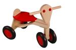 Afbeeldingen van Loopfiets berken hout rood Van Dijk Toys vierwieler kinderfiets