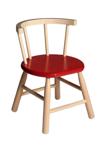 Bild von Kinderstoel, rood zitvlak, gebogen leuning, beukenhout Van Dijk Toys