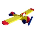 Afbeeldingen van Vliegfiguur Vliegtuig hout kinderkamer Van Dijk Toys