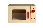 Afbeeldingen van Speel- kinderkeuken-Kleuter Magnetron blank hout 40x 30x 25 cm Van Dijk Toys