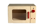Bild von Speel- kinderkeuken-Kleuter Magnetron blank hout 40x 30x 25 cm Van Dijk Toys