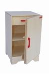 Afbeeldingen van Speel- kinderkeuken-Kleuter Koelkast blank hout 40x 40x 61 cm Van Dijk Toys