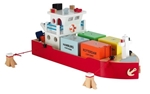 Bild von Havenlijn Containerboot + 4 Containers New Classic Toys