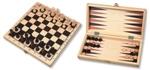 Bild von Schaakspel en Backgammon Klapcassette 29 cm