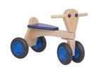 Afbeeldingen van Loopfiets beukenhout Blauw Van Dijk Toys Vierwieler kinderfiets