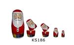Afbeeldingen van Kerstmatroesjka 5-delig