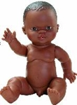 Bild von Babypop Gordi Afro Jongen - 34 cm