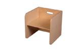 Afbeeldingen van Blanke kubusstoel-kinderstoel met blanke zitting thuisgebruik 1-8 jaar Van Dijk Toys