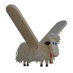 Afbeeldingen van Vliegfiguur Schaap hout kinderkamer Van Dijk Toys