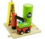 Bild von Olie op- en overslag terminal houten treinbaan Bigjigs