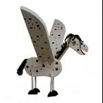 Bild von Vliegfiguur Paard hout kinderkamer Van Dijk Toys