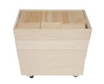 Afbeeldingen van 202 Haagse Blokken 7,5 cm. Haagse blokken set 202 blanke beukenhouten bouwblokken  in 5 stapelkisten Van Dijk Toys