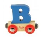 Afbeeldingen van Letter B kleur, naamtrein - lettertrein Bigjigs