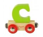 Bild von Naamtrein, lettertrein kleurrijk Bigjigs letter C