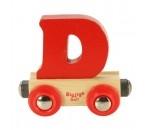 Bild von Naamtrein, lettertrein kleurrijk Bigjigs letter D