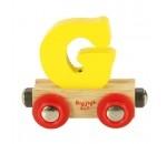 Bild von Naamtrein, lettertrein kleurrijk Bigjigs letter G