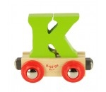Bild von Naamtrein, lettertrein kleurrijk Bigjigs letter K