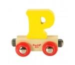 Afbeeldingen van Letter P kleur, naamtrein - lettertrein Bigjigs