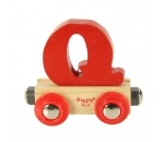 Afbeeldingen van Letter Q kleur, naamtrein - lettertrein Bigjigs