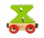 Afbeeldingen van Letter X kleur, naamtrein - lettertrein Bigjigs