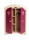 Afbeeldingen van Poppenkledingkast roze hout  Van Dijk Toys