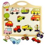 """Afbeeldingen van Magneetbord met magneten """"transport"""" Bigjigs"""