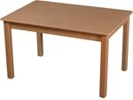 Image de Kindertafel beukenhout zonder lade blank 90 x 60 cm hoog 48 cm Van Dijk Toys