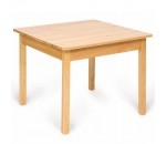 Afbeeldingen van Kindertafel hout, passend bij Bigjigs kinderstoeltjes 60x50x60cm Bigjigs