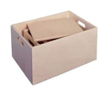 Bild von Kleine houten speelgoedkist-sjouw-opbergkist  Van Dijk Toys
