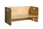 Afbeeldingen van Peutergroep Kubusbank-kinderbank  hout met blanke zitting groepsgebruik 1-6 jaar Van Dijk Toys