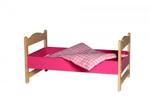 Bild von Poppenledikant-roze poppenbed hout  Van Dijk Toys