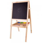 Afbeeldingen van Schoolbord met magneet- en krijtbord hout Bigjigs