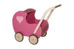 Afbeeldingen van Poppenwagen vintage roze hout Van Dijk Toys