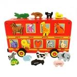 Bild von Autobus vormenpuzzel met veel dieren Nederlands
