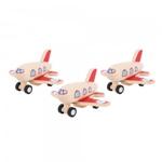 Afbeeldingen van Vliegtuigje hout pull-back Bigjigs