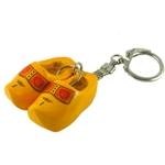Afbeeldingen van Sleutelhanger klompjes Hout geel