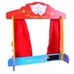 Afbeeldingen van Speel-theater, poppenkast tafelmodel hout Bigjigs