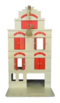 Afbeeldingen van Professioneel Speel pakhuis rood - speelhuis -grachtenpand met takel Van Dijk Toys
