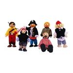 Afbeeldingen van Poppenhuispoppetjes piraten 6 stuks Bigjigs
