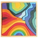 Bild von Puzzel bouwblokken 4 elementen 44,5 cm 23-delig Grimm's