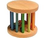 Afbeeldingen van Rollend Wiel regenboog mini, rammelaar 6 cm Grimm's