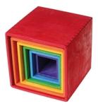 Afbeeldingen van Stapelkubus-blokken gekleurd 15 cm Grimm's