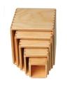 Afbeeldingen van Stapelkubus-blokken naturel 11 cm Grimm's