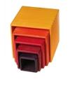 Afbeeldingen van Stapelkubus-blokken geel-rood 11 cm Grimm's