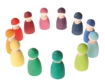 Afbeeldingen van 12 regenboogvrienden set gekleurd Grimm's