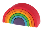 Afbeeldingen van Regenboog gekleurd medium 17 cm 6-delig Grimm's