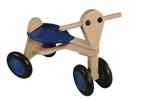 Afbeeldingen van Loopfiets berken hout blauw Van Dijk Toys vierwieler kinderfiets
